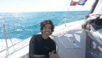 Ricardo Diniz at sea in the OSTAR 2017
