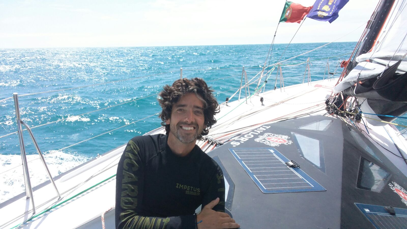 Ricardo Diniz at sea in the OSTAR 2017